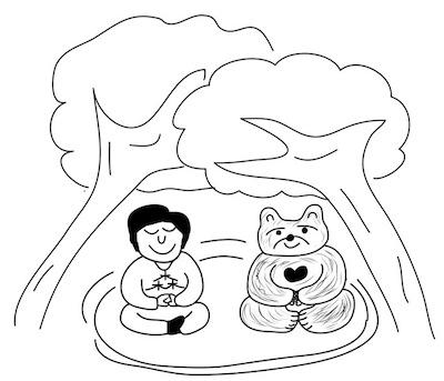 第130回カットコンクール優秀作品「森と熊さん」